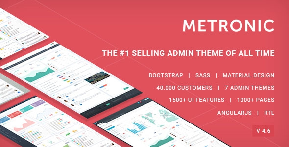 Metronic v4.7.5 – Responsive Admin Dashboard Template