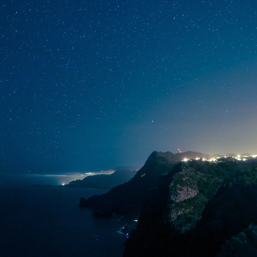 Stars over Madeira coast