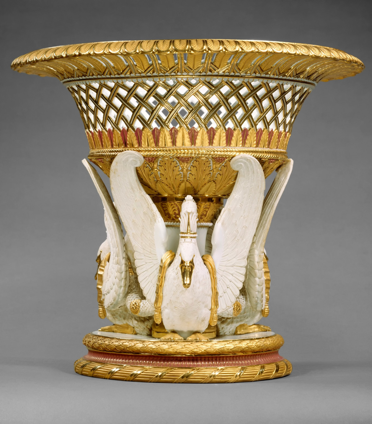 1823 Fruit or flower basket. Hard-paste porcelain. metmuseum