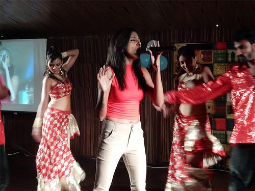 Inchara Rao Performing at the Ugadi Eve Celebrations at the 100 Feet BBQ Lounge , Kormangala