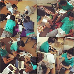 Grade 8s reading challenging texts and team reading. #TCRWP #uwcsea_east I #love my job. #Friday #bookclubs