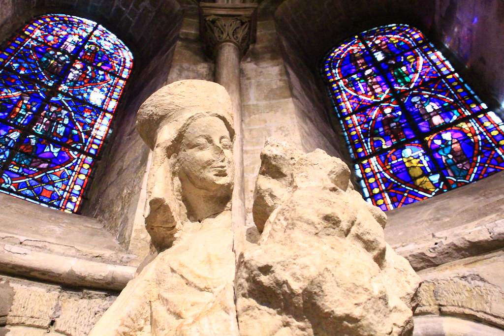 The Virgin and Child sculpture at the Abbey de Saint-Germain