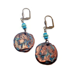 Ancient Earrings polymer clay