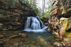 Waterfall at the Blue Hole in northeastern TN