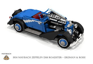 Maybach Zeppelin DS8 Roadster (1938 - Erdman & Rossi)