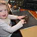 "Grand Junior Op! Three year old  ""Soffi "" on the morse key!"