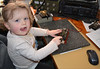 """Grand Junior Op! Three year old  """"Soffi """" on the morse key!"""
