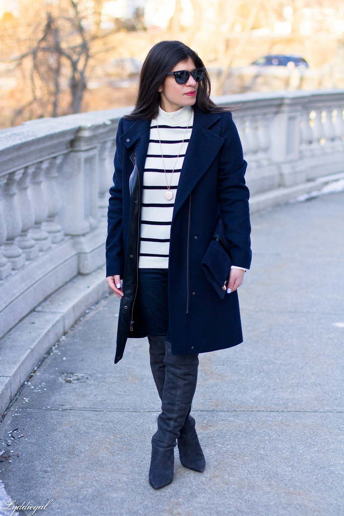 striped sweater, grey OTK boots, navy coat-2.jpg