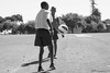 Orphans playing soccer
