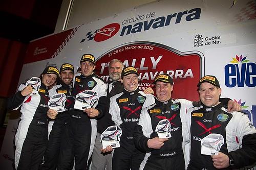 Podio Rally Circuito de Navarra 2015
