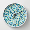 I worked my fish highway design in a seamless repeat and I'm liking how it looks on this clock from my Society6 shop! From a pen sketch to a clock! #society6 #fish #design #pattern #surfacepattern #surfacedesign #clock #fishy #ocean #fishhighway #sea #ill