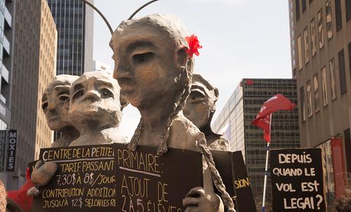 Marionnettes anti- austérité