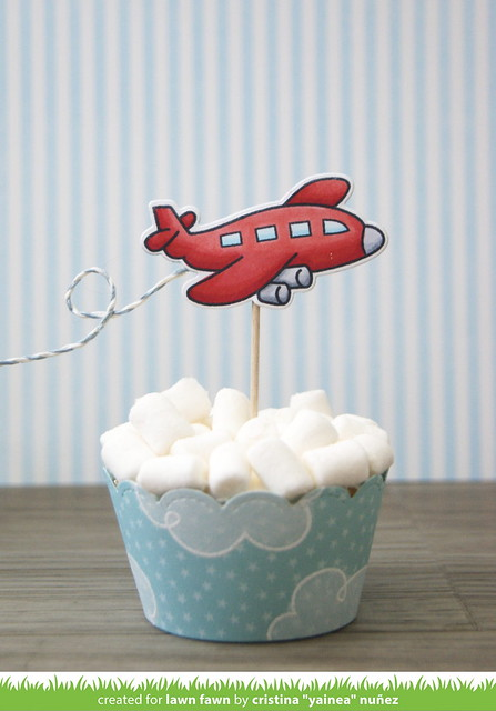 Party plane cupcakes - single