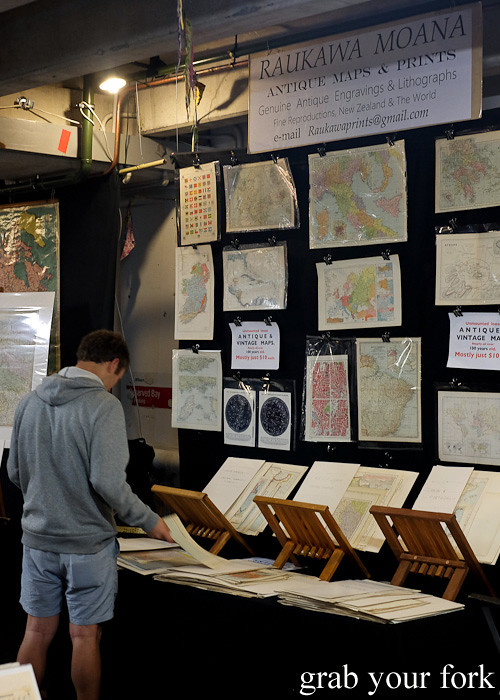 Antique maps and prints at Wellington Underground Market, Wellington