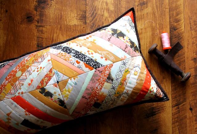 Herringbone Pillow bound in Chocolate!