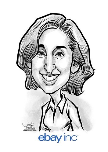 Beth Axelrod farewell digital caricature for eBay
