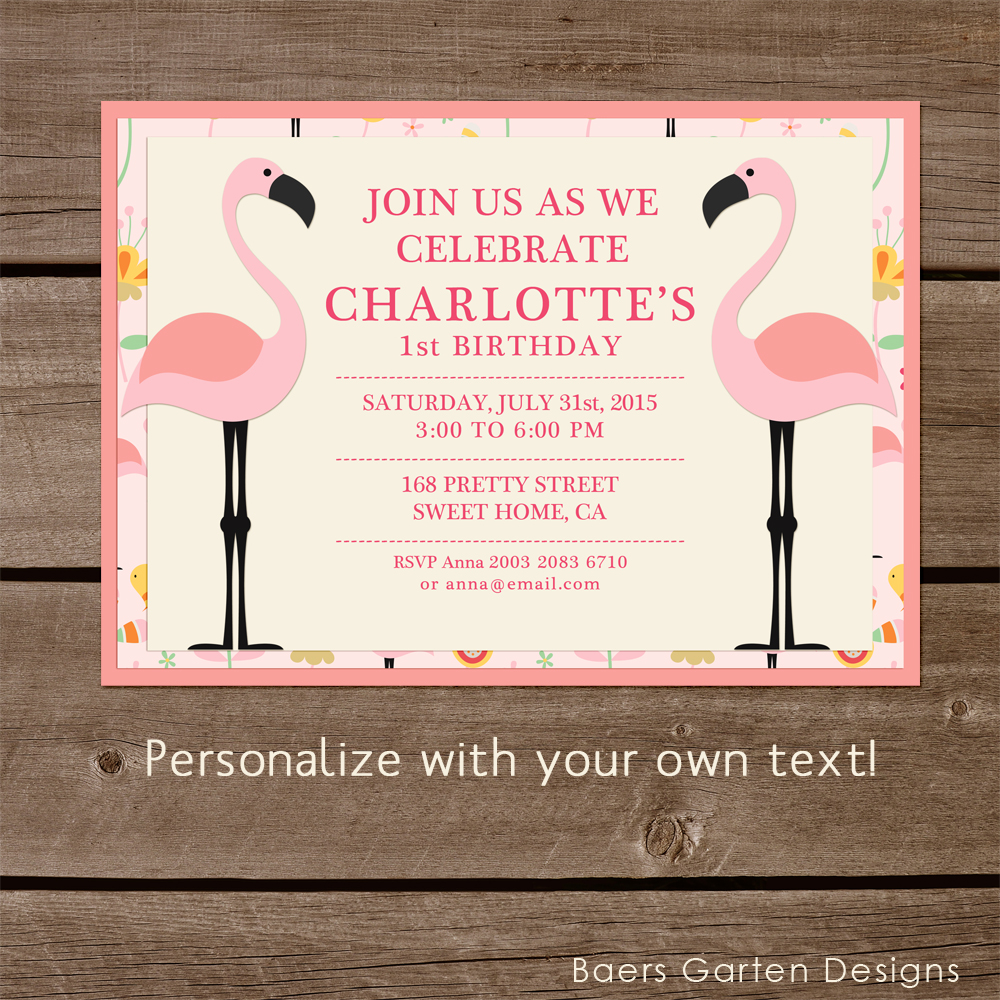 Flamingo Birthday Party and Baby Shower Printables