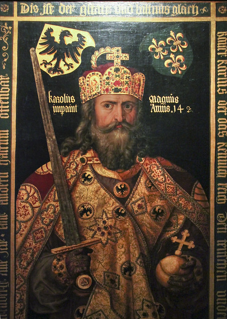 Idealised portrait of Emperor Charlemagne