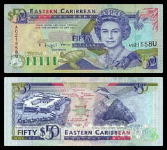 (XCD6a) 1993  Eastern Caribbean States, Anguilla, Eastern Caribbean Central Bank, Fifty  Dollars (A/R)...