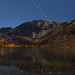 Lunar Eclipse Setting Over Convict Lake by Jeffrey Sullivan