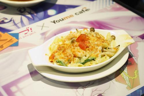 差點忘了有個看起來最正常的真姬鮮蝦菠菜焗直通粉