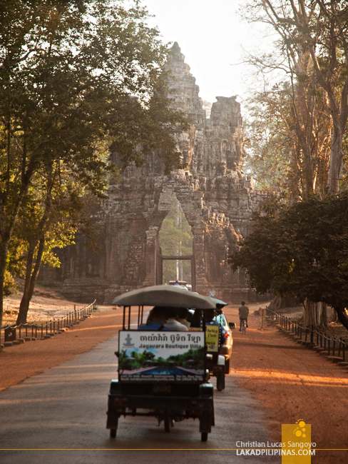 Angkor Thom Gate in Siem Reap