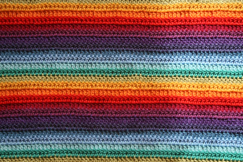 Rainbow crochet stripes