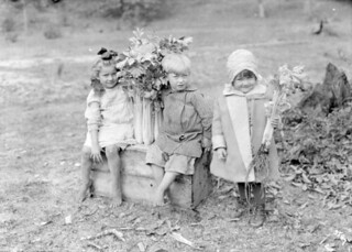 Three children with celery stalks at Thedford Celery Company, 1913 / Trois enfants avec des branches de céleri à la Celery Company de Thedford, en 1913