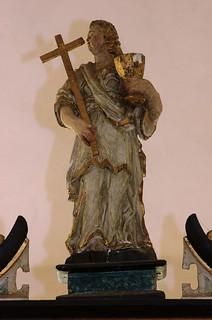 Daverden, Niedersachsen, St.-Sigismundkirche, altar, a virtue : faith