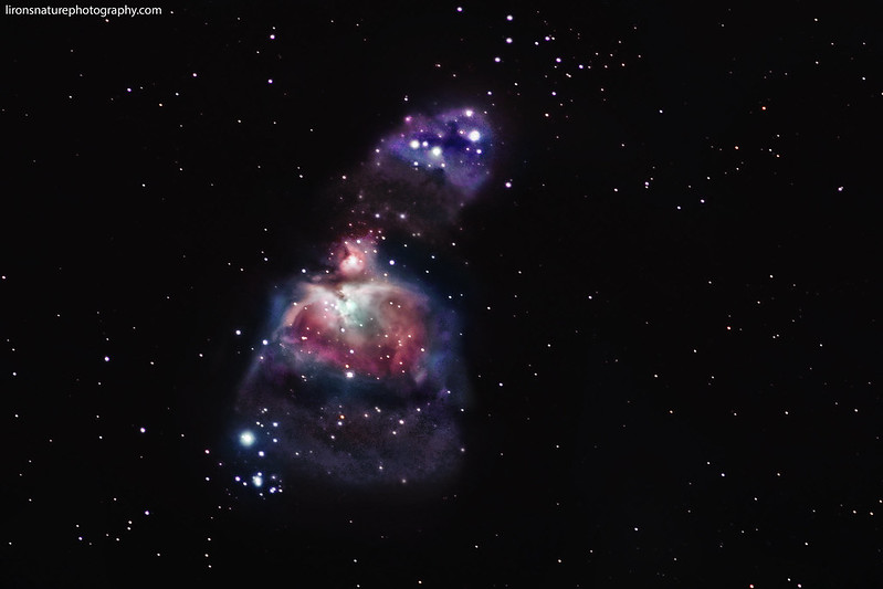 Orion's Nebula and Running Man Nebula
