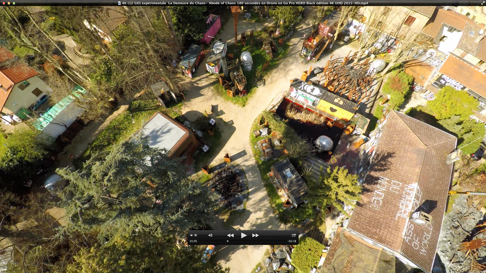 La Demeure du Chaos vue du0026#39;un Drone Go Pro HERO Black edition 4K HD ...