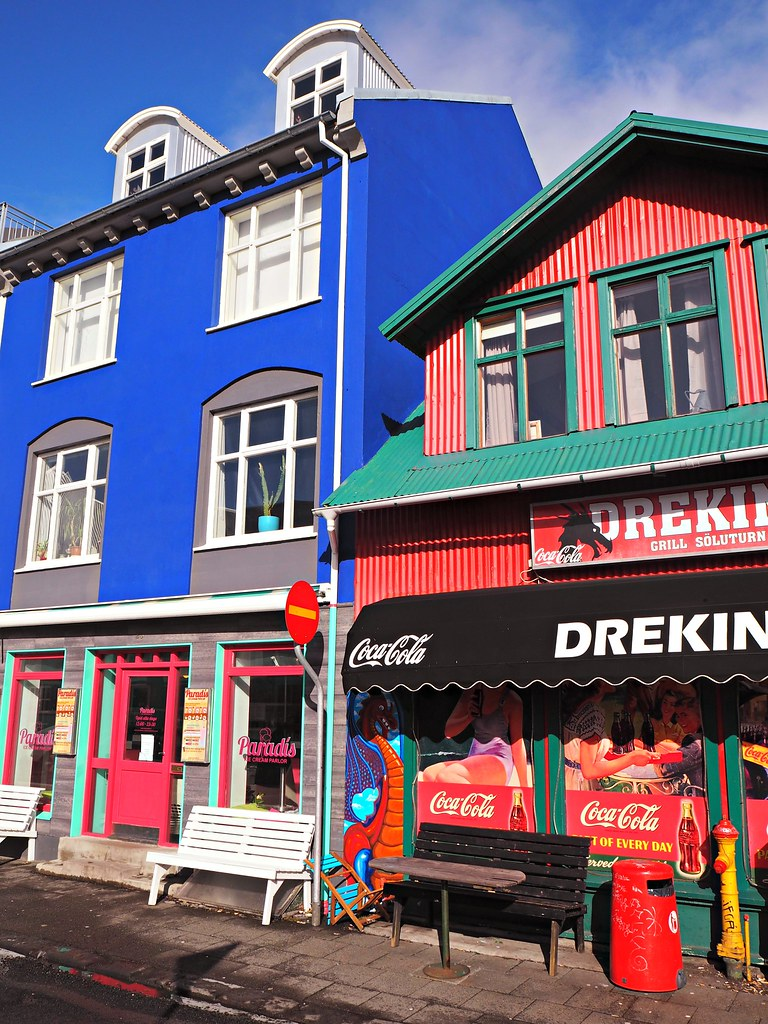 Reykjavik coloured buildings 1