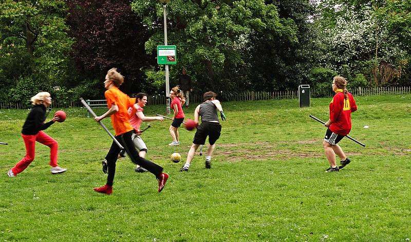 Quidditch Practice in Ghent, Belgium