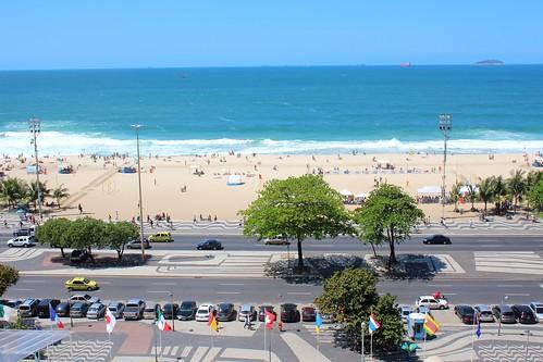 IMG_0500/Brazil/Rio De Janeiro/ Copacabana Beach in front of Copacabana Palace