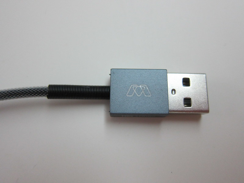 MOS Spring Lightning Cable - USB Head (Front)