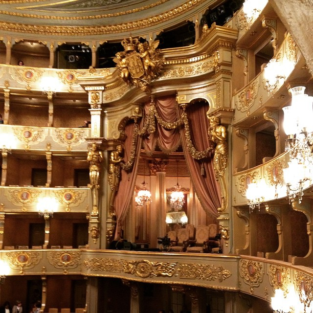 When our president ones to the opera, he gets to see it from here. Wouldn't it be fun to watch from there? #lisboa #lisbon