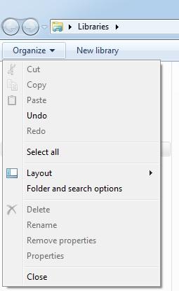 windows explorer option
