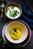 Saffron rice and cucumber raita