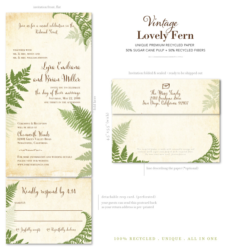 All in One Lovely Fern invitations
