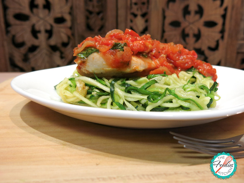Zucchini Noodles with Pomodoro Chicken
