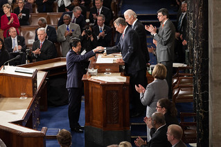 Speaker John Boehner welcomes Prime Minister Shinzo Abe of Japan to address a Joint Meeting of Congress.