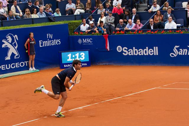 Semifinal entre David Ferrer y Pablo Andújar