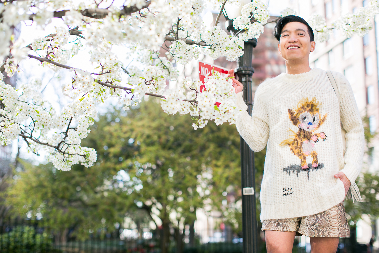 Gary Baseman for Coach collaboration as worn by fashion blogger Bryanboy