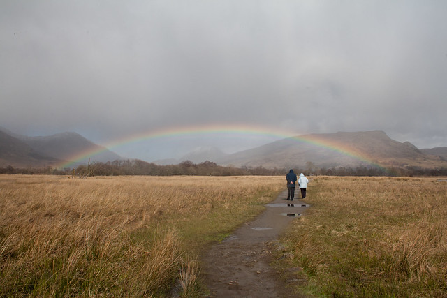 Rainbow at Kilchurn Castle, Lochawe