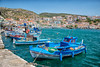 fishing boats in Phytagorion harbour Samos