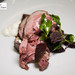 Cordero a la brasa - Slow grilled lamb shoulder, heirloom eggplant, citrus labne yogurt, chermoula