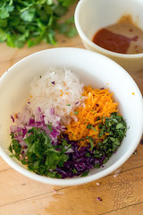 Thai BBQ Beer Cabbage with Daikon Slaw