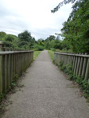 Kings Norton Local Nature Reserve - path - footbridge