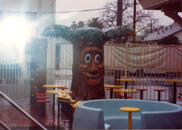 McDonaldland tree & hamburger rider- 80's