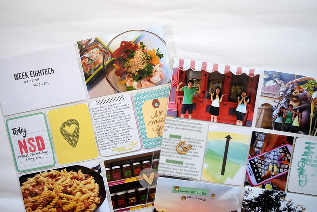 Using Amy Tangerine cards in Project Life
